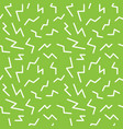 seamless memphis thunderbolt pattern trendy and vector image