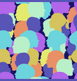 seamless pattern crowd people profile vector image vector image