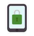security icon mobile locking design phone vector image vector image