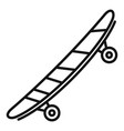 side wood skateboard icon outline style vector image vector image