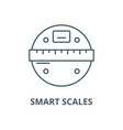 smart scales line icon linear concept vector image vector image