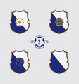 soccer badge or football logo design vector image