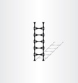 step ladder with bones vector image vector image