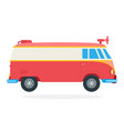 street food van with megaphone icon flat isolated vector image