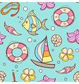 Summer marine seamless pattern vector image vector image