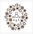 The eight 8 of march date vector image