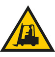 tractor warning sign on white vector image vector image
