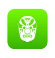tribal mask icon digital green vector image vector image