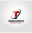 troubleshooter - letter t logo template vector image