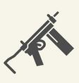 uzi solid icon weapon vector image