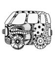 vintage car a mini van vector image
