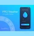 weather forecast app ux ui design stock vector image vector image