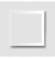white frame isolated transparent background vector image vector image