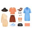 women fashion set vector image