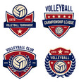 set of volleyball champions league emblems design