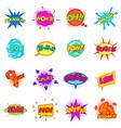 comic sound cloud set icons set cartoon style vector image