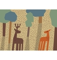 Couple deer love forest animals vector image