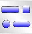 web elements button set vector image