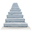 cartoon stone stairs vector image