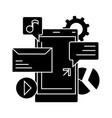 mobile marketing icon sig vector image