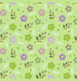 pattern from flowers on a lime background vector image