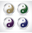ying yang buttons vector image