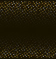 abstract golden halftone pattern on black vector image vector image