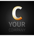 abstract logo letter C vector image vector image