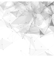 Abstract low poly white bright technology vector image