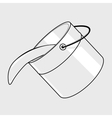 Black line bucket vector image