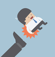 Businessman being kicked out vector image