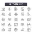 buy online line icons signs set outline vector image