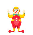 cartoon clown isolated on white background party vector image vector image