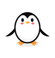 cartoon penguin isolated on white background vector image vector image