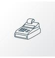 cash register icon line symbol premium quality vector image