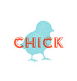 chick poultry vintage logo retro print poster vector image vector image