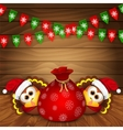 christmas card with funny turkeys vector image vector image
