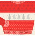Christmas Ornamental Sweater Card vector image