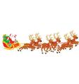 Christmas Sleigh of Santa Claus vector image vector image