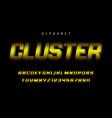 cluster stylized display font design alphabet vector image vector image