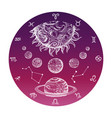 color hand drawn astrology concept with zodiac vector image vector image