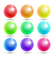 colorful shiny spheres vector image vector image