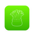 coral icon green vector image