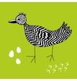 Creative ink drawn bird vector image vector image