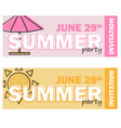 creative modern flat design invitation on summer vector image vector image
