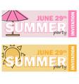 creative modern flat design invitation on summer vector image vector image