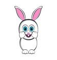 cute happy easter bunny vector image