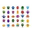 cute monsters big set cartoon monsters vector image vector image