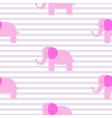 Cute pink elephant seamless pattern vector image