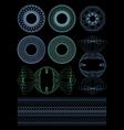 Decorative rosettes guilloche vector image vector image